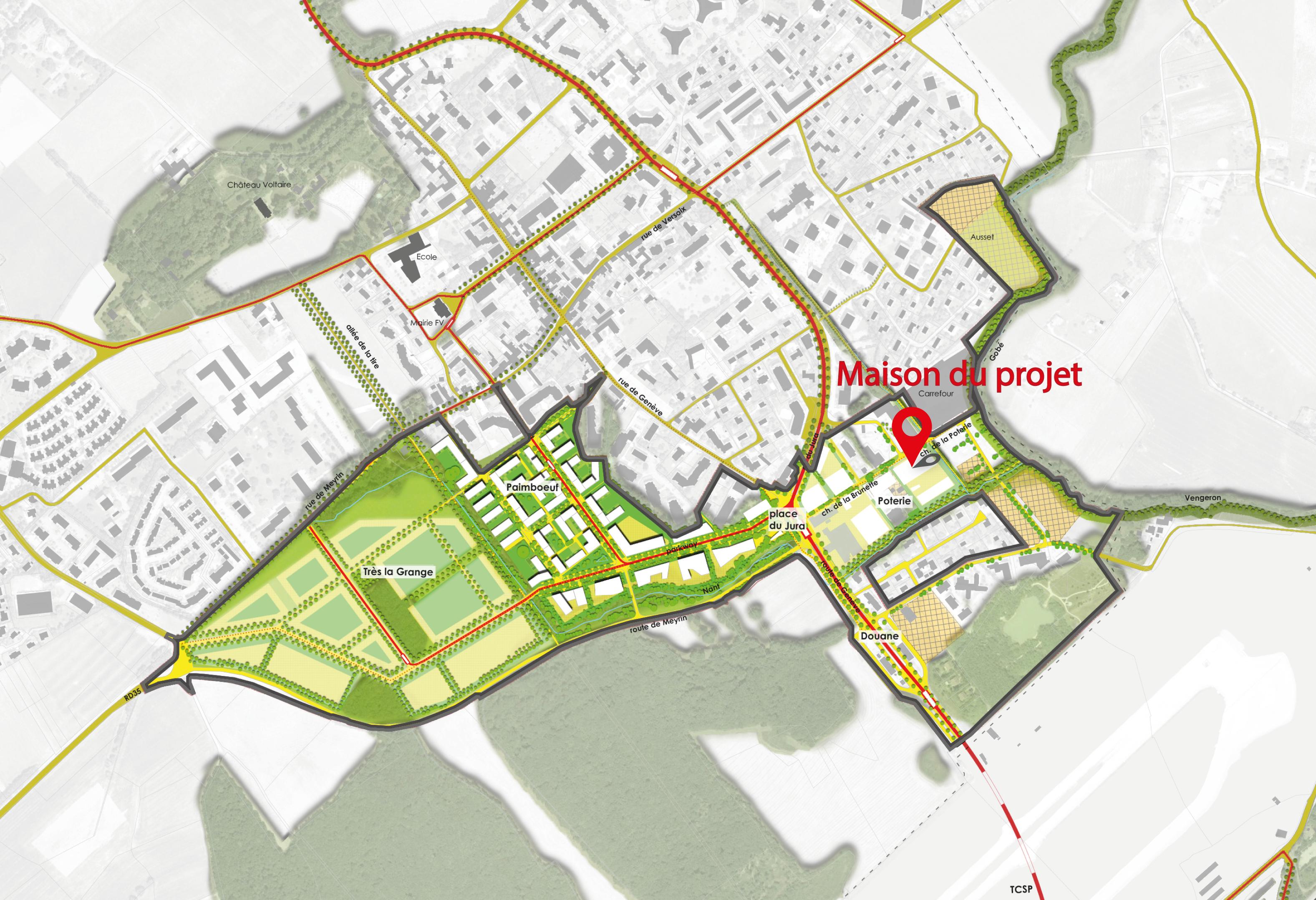Localisation maison du projet